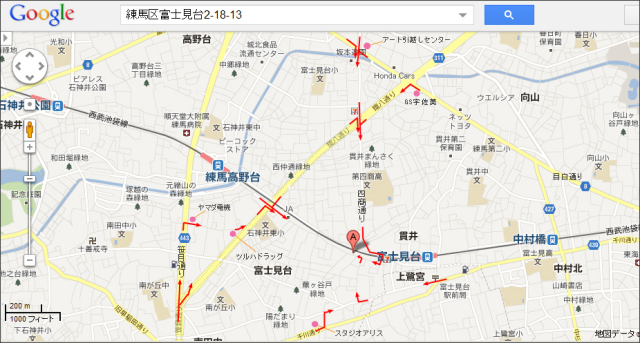 木村家 広域地図